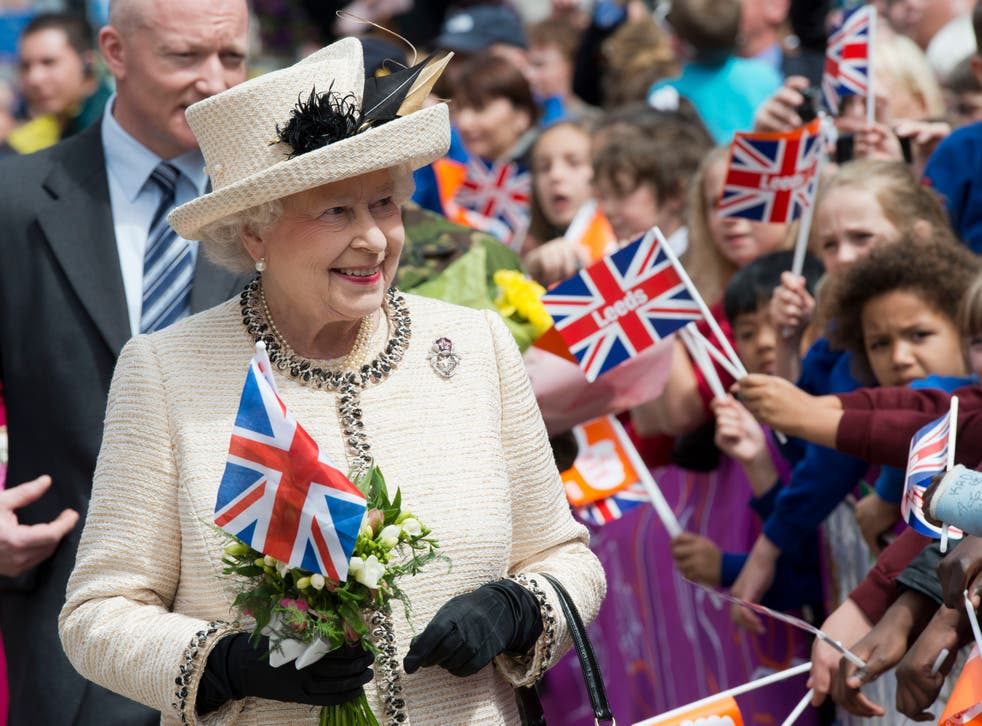 <p>The Queen during her Diamond Jubilee tour</p>