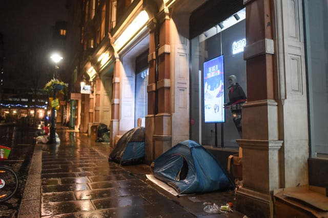 <p>Homelessness affects people across the capital</p>