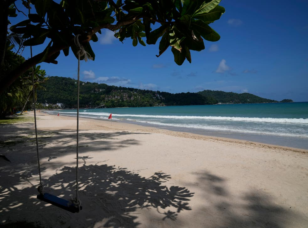 <p>Phuket's beaches have been deserted since the pandemic decimated Thailand's travel sector </p>