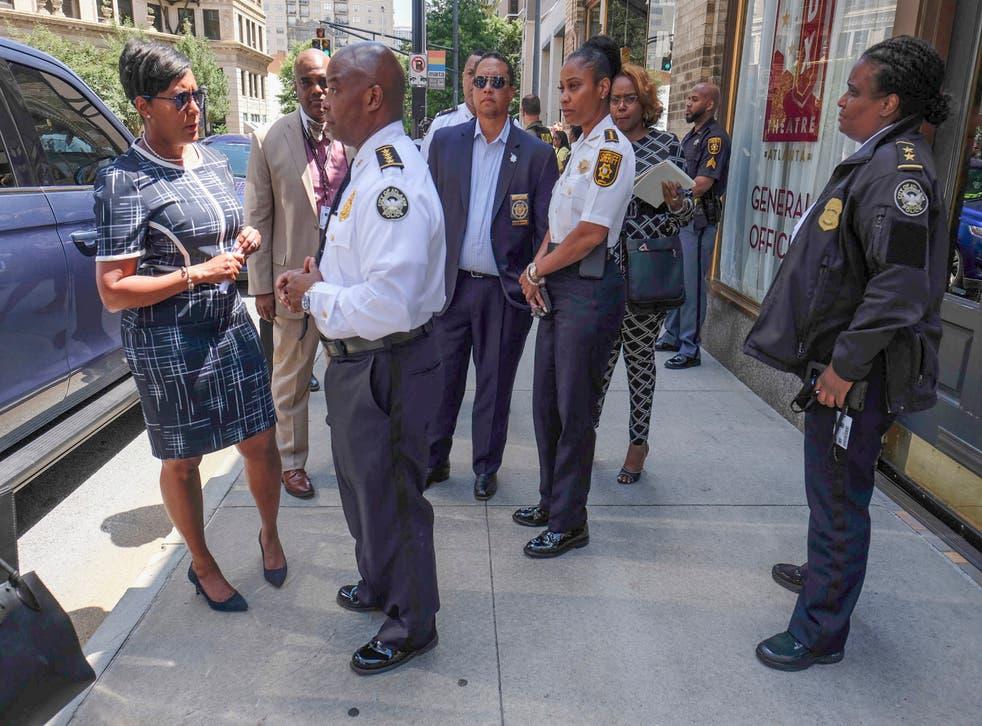 Officer Shot Atlanta