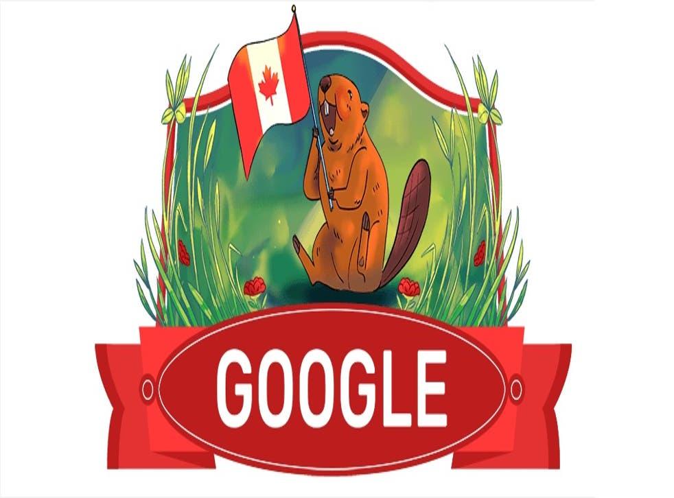 <p>El Doodle muestra a un castor, que es considerado el animal nacional de Canadá</p>