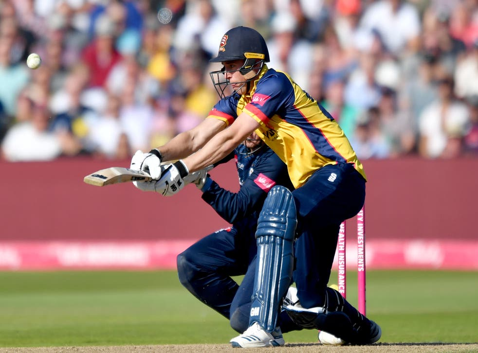 Essex's Dan Lawrence in action