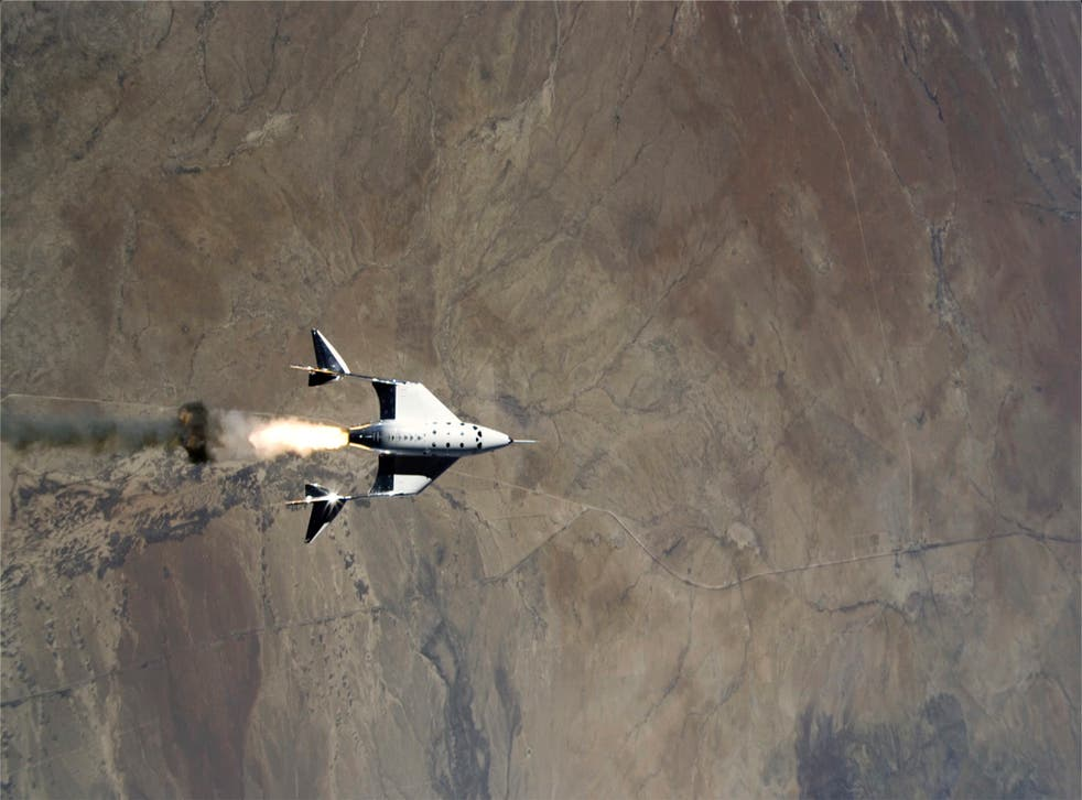 <p>The release of VSS Unity from VMS Eve over Spaceport America in New Mexico</p>