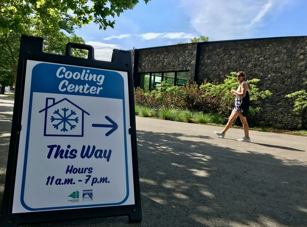 <p>Spokane is one of many cities to have opened 'cooling centres'</p>