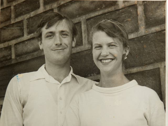 <p>Undated photo of poets Ted Hughes and Sylvia Plath</p>