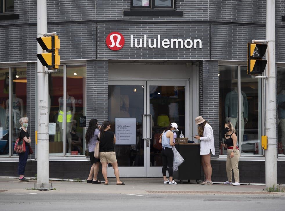 <p>Lululemon store in Canada</p>