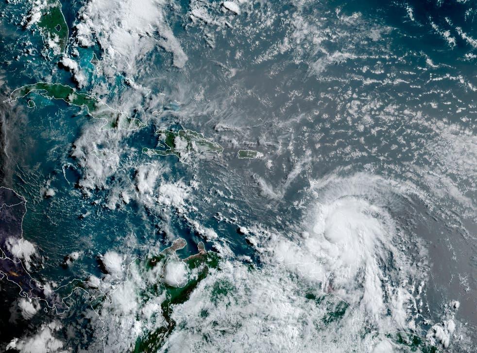 <p>Hurricane Elsa is moving through the Caribbean</p>
