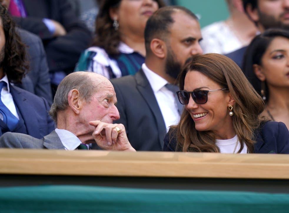 <p>The Duchess of Cambridge and the Duke of Kent</p>