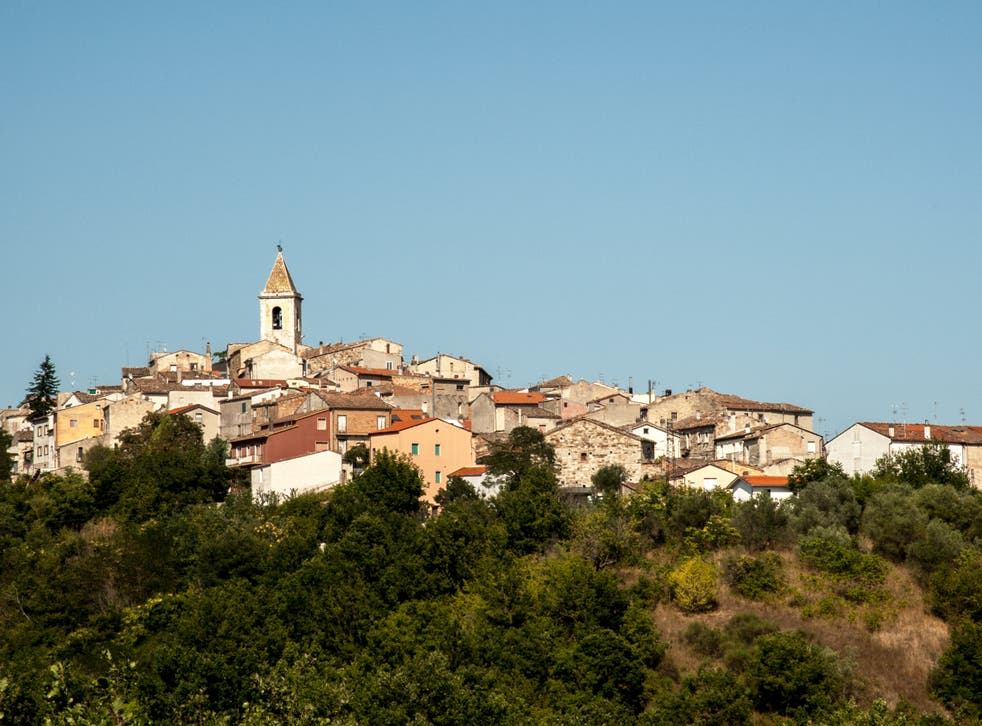 <p>A view of the historic centre of San Giovanni in Galdo</p>
