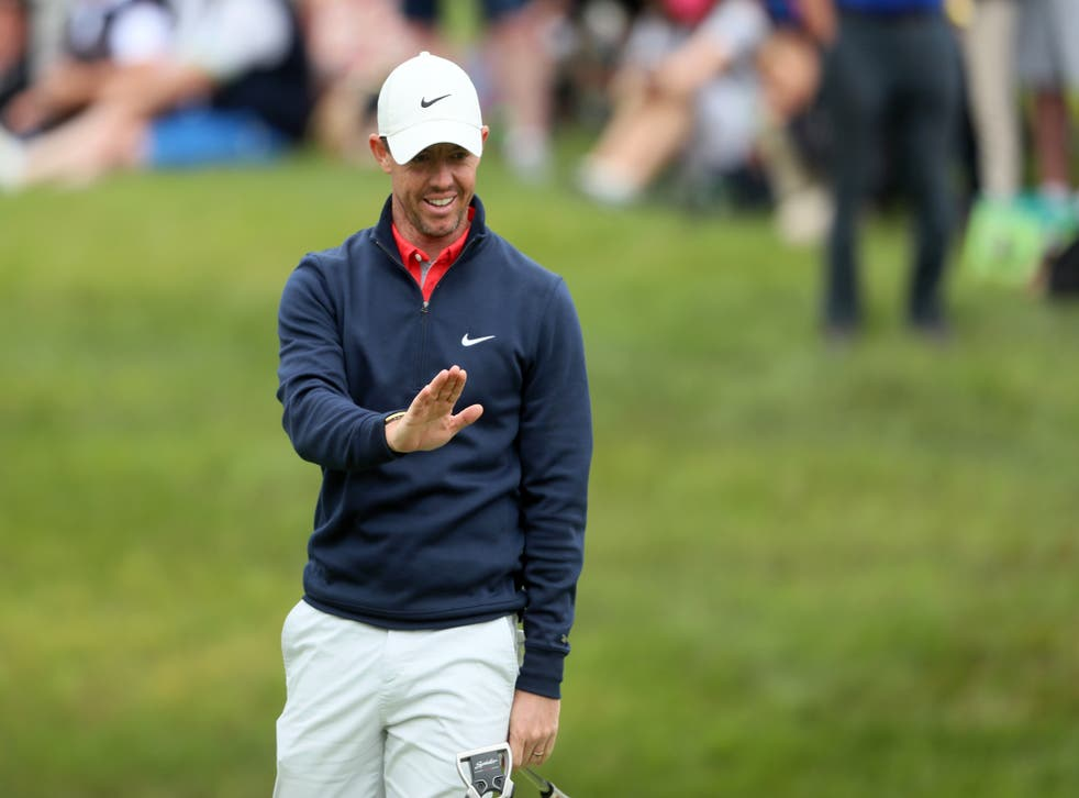 <p>Rory McIlroy in action</p>