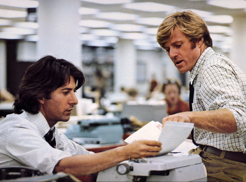 <p>Robert Redford and Dustin Hoffman in 'All the President's Men'</p>