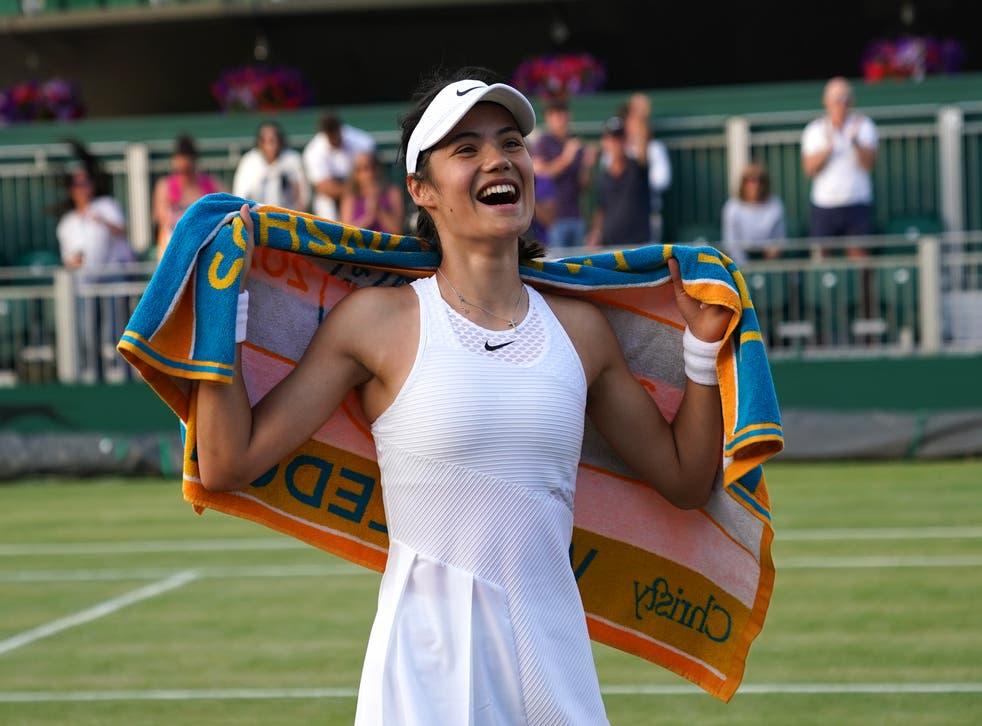 Emma Raducanu has been loving her Wimbledon experience