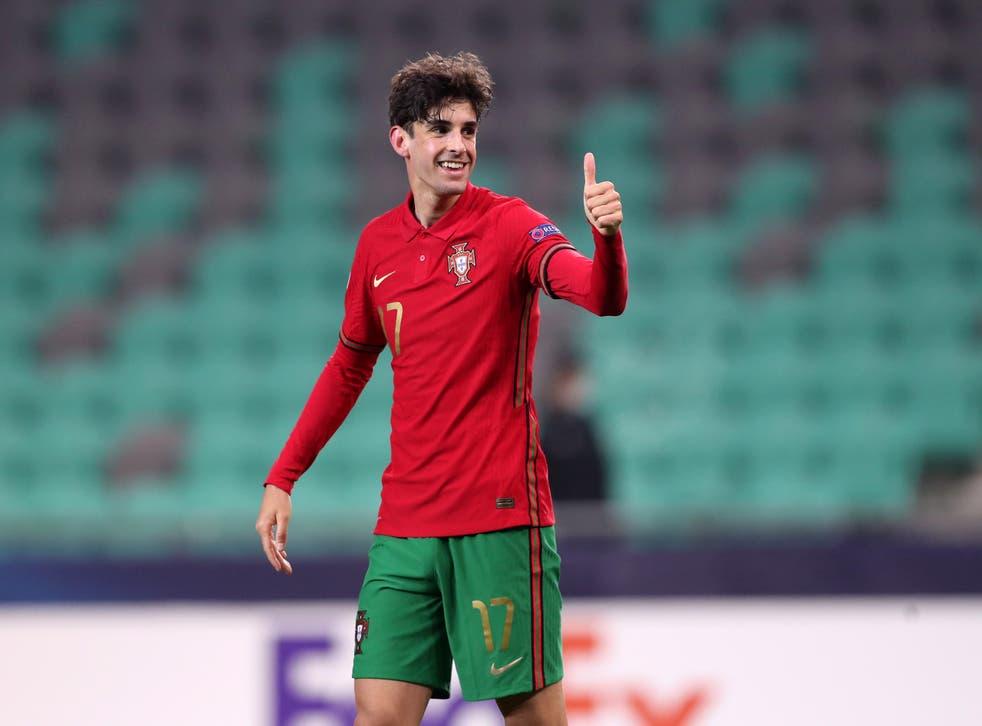 <p>Portugal international Francisco Trincao has joined Wolves on a season-long loan deal</p>