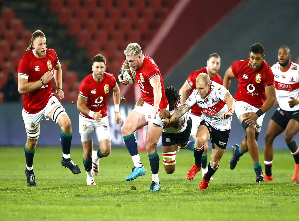 The Lions went on the rampage in their tour opener in Johannesburg