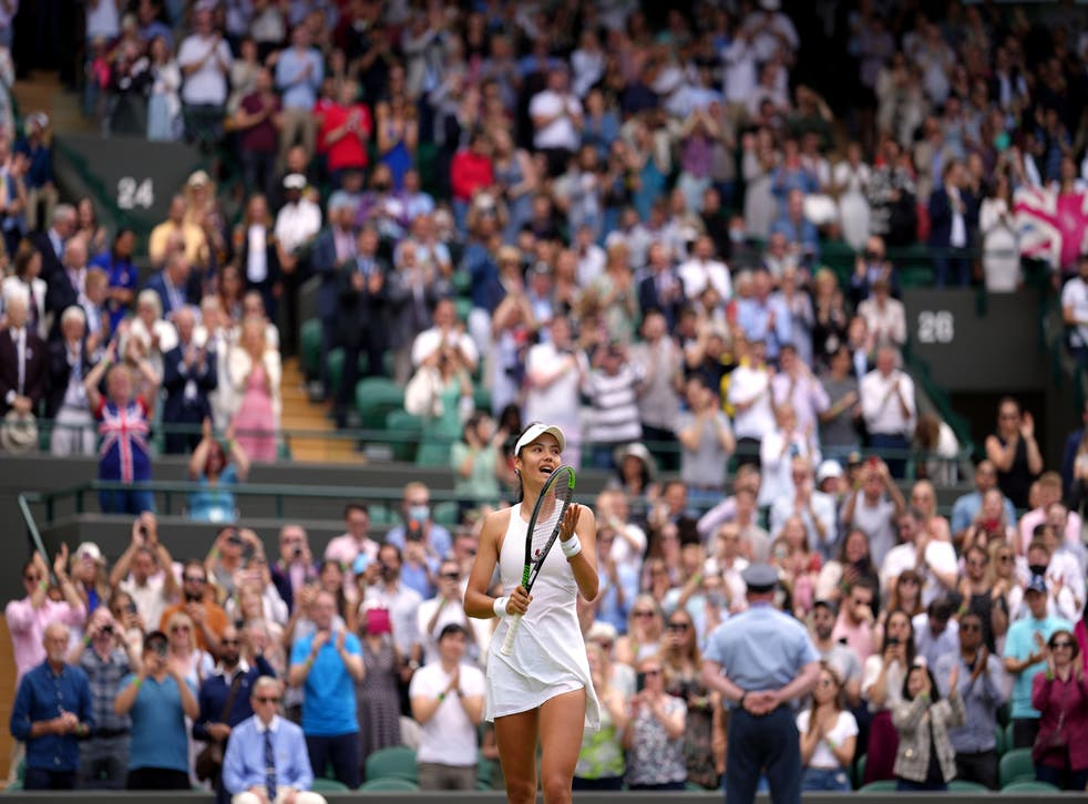 A view of the crowds inside Wimbledon