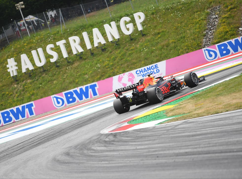 <p>Max Verstappen out in front for Red Bull</p>