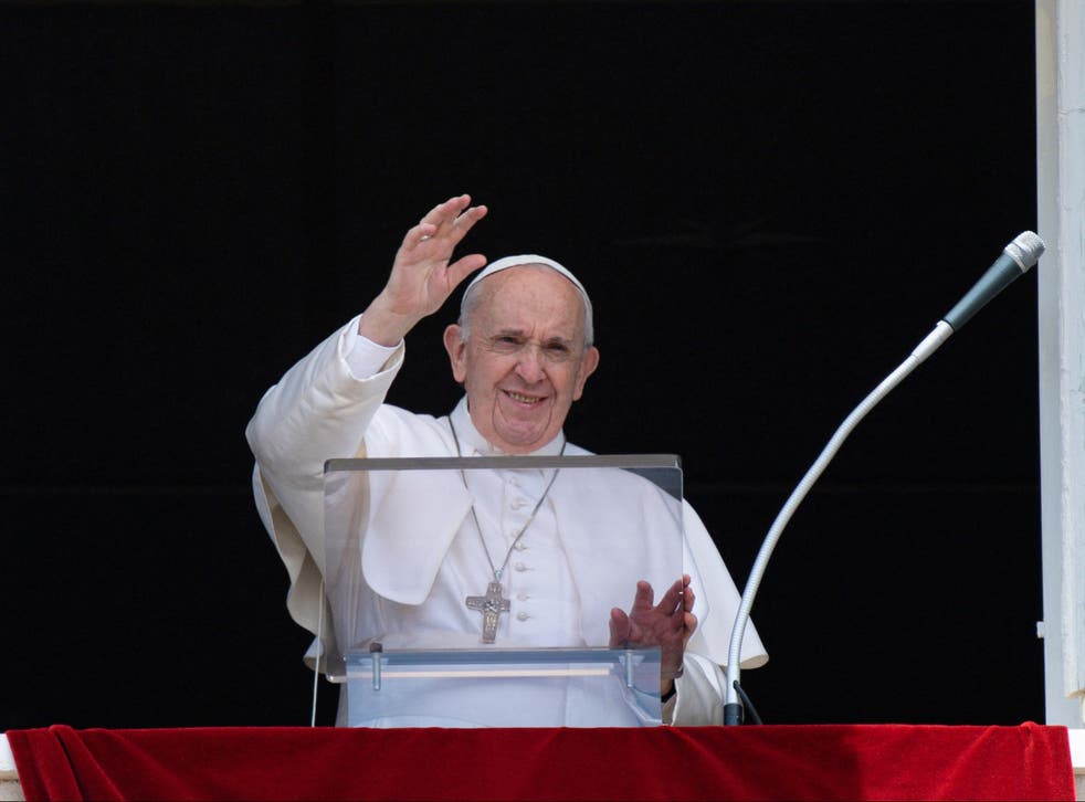 <p>Pope Francis made no mention of his upcoming surgery during his regular Sunday morning appearance</p>