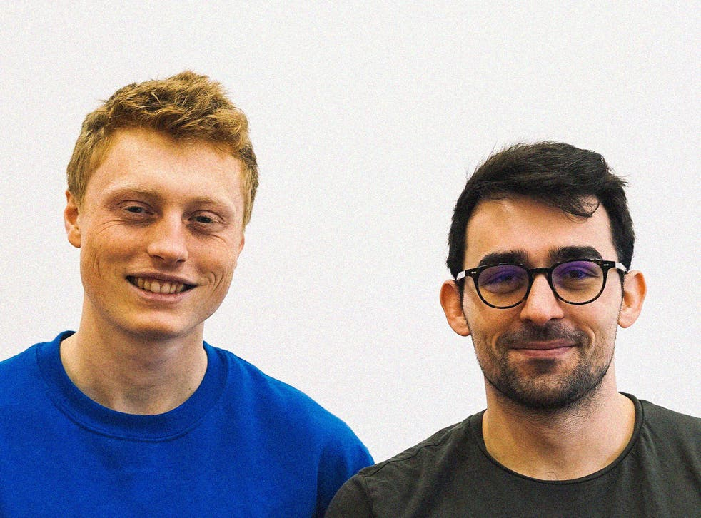 <p>Jacob Wedderburn Day and Anthony Collias, right</p>