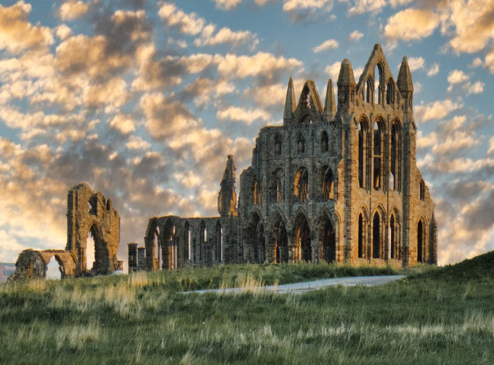 <p>Whitby Abbey, which inspired Bram Stoker's Dracula</p>