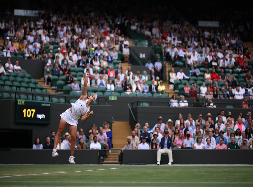 <p>Ashleigh Barty in action</p>