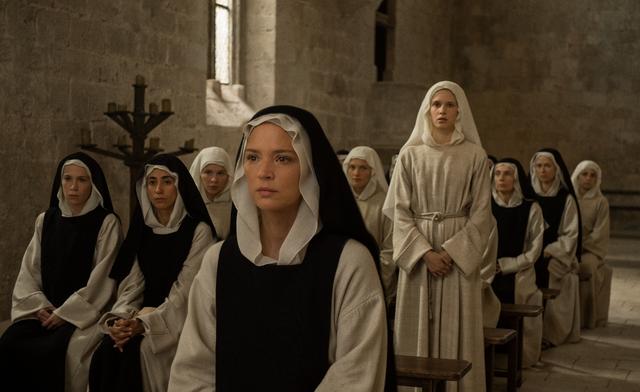 <p>Sister Benedetta (Virginie Efira) has visions of Jesus on the cross that fuel her wildest erotic fantasies in Paul Verhoeven's 'Benedetta' </p>