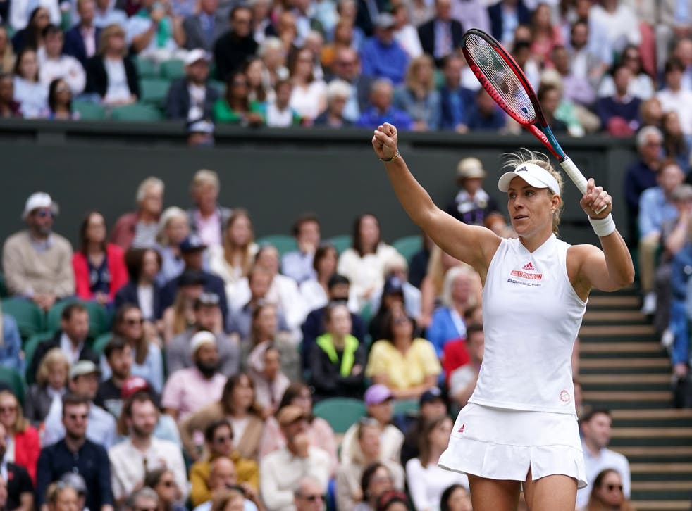 <p>Angelique Kerber looked back to her best as she took out Coco Gauff on Centre Court</p>