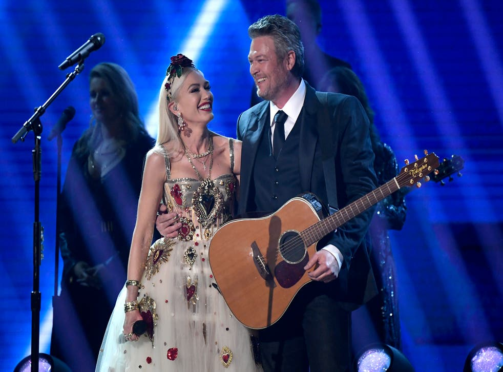 <p>File: Gwen Stefani and Blake Shelton perform onstage during the 62nd Annual Grammy Awards at the Staples Center in Los Angeles, California</p>