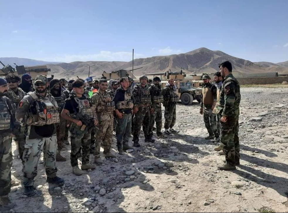<p>Afghan Commandos arrive to reinforce the security forces in Faizabad the capital of Badakhshan province, after Taliban captured neighborhood districts of Badakhshan</p>