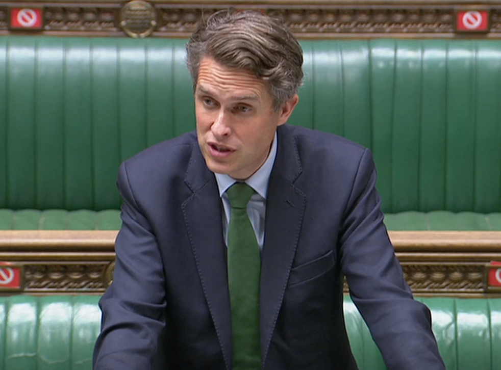 <p>Gavin Williamson tells MPs restrictions will be eased</p>