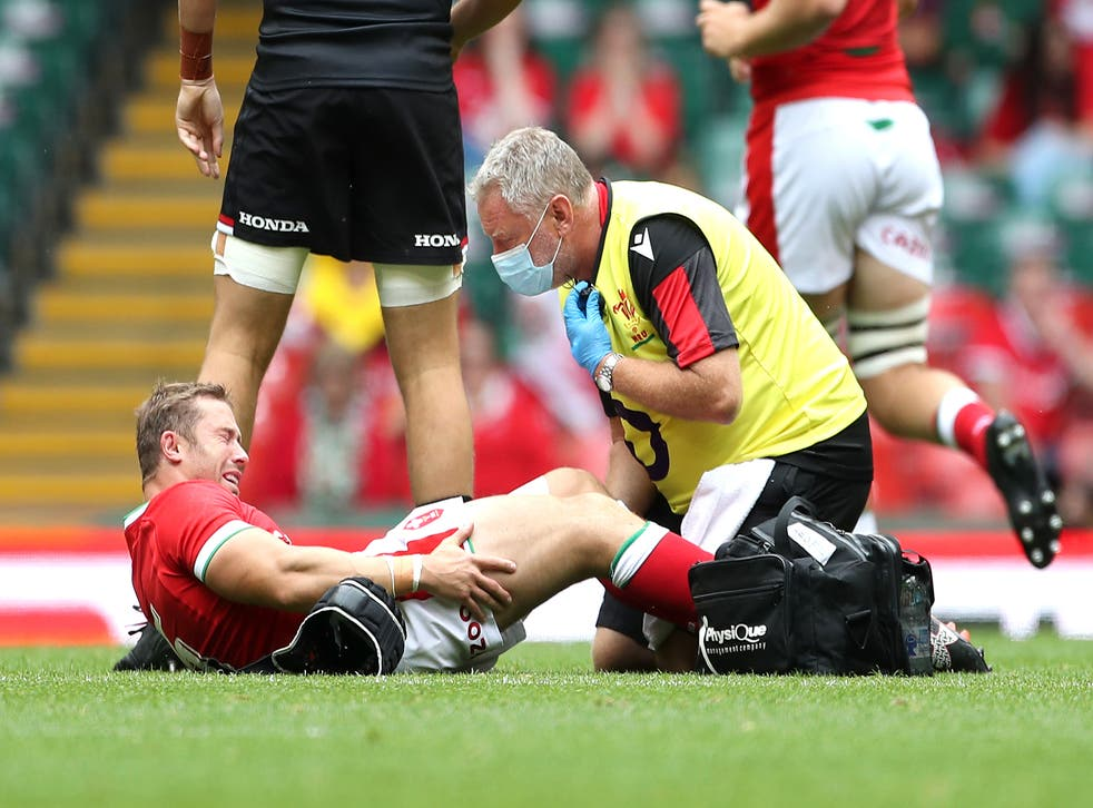 <p>Wales' Leigh Halfpenny was injury against Canada</p>