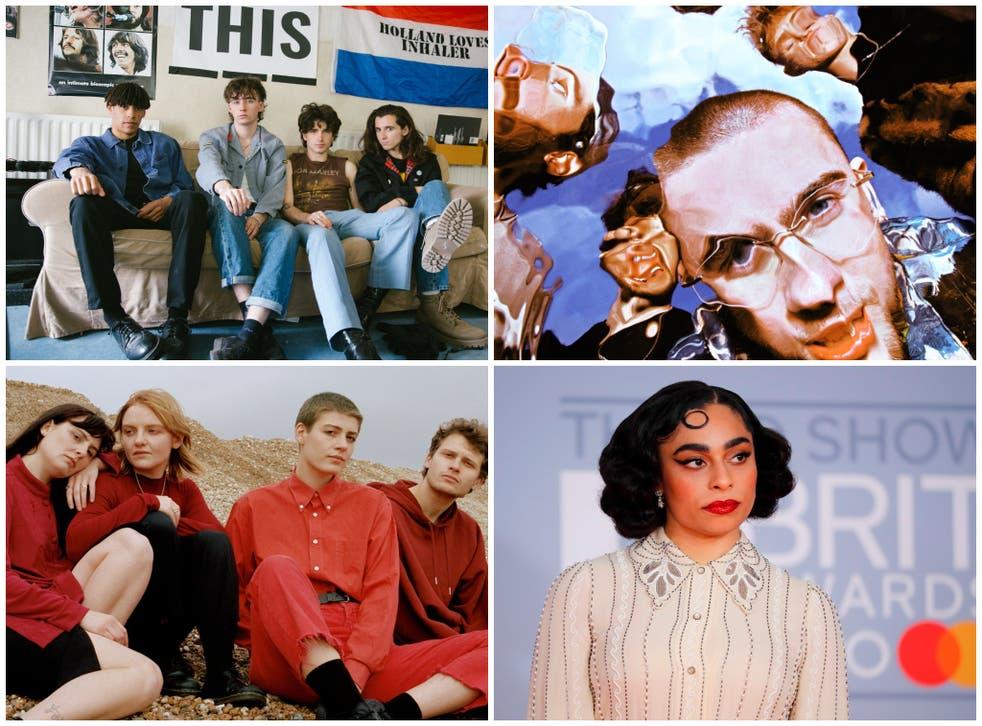 <p>From top left clockwise: Inhaler, Easy Life, Celeste and Porridge Radio</p>