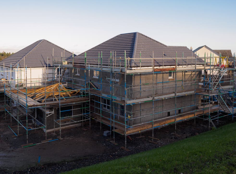 <p>Construction of homes by Taylor Wimpey in Scotland</p>