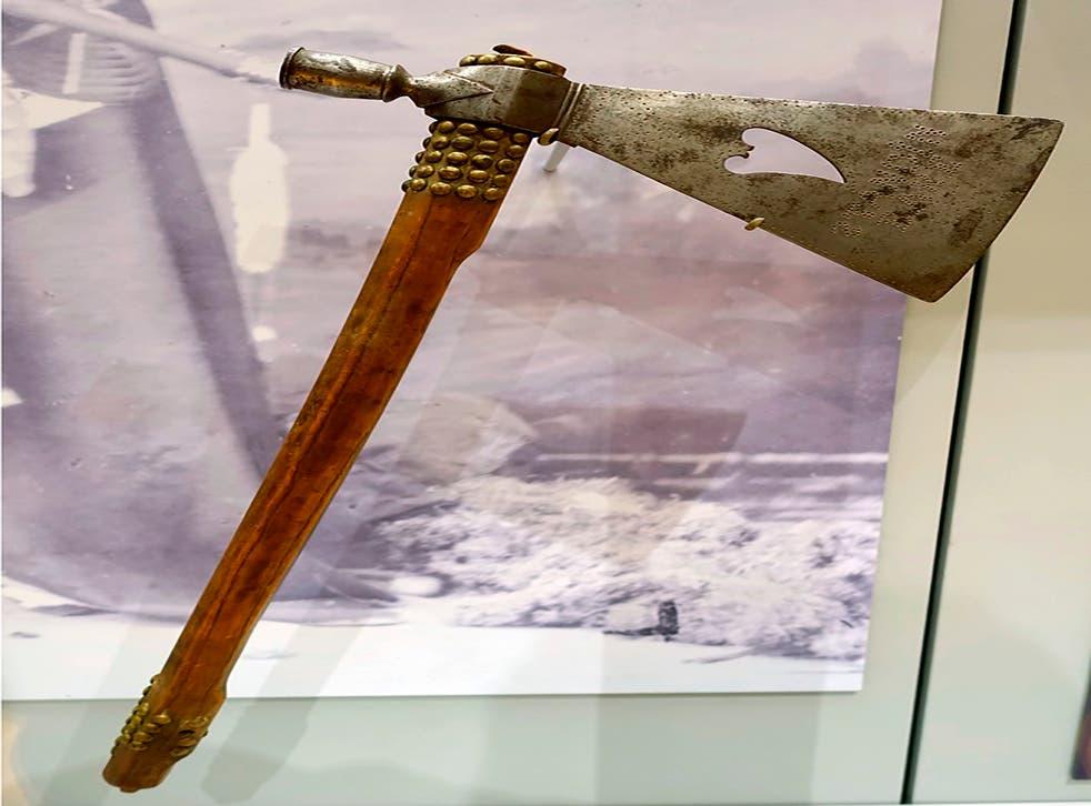 Harvard Museum Tomahawk