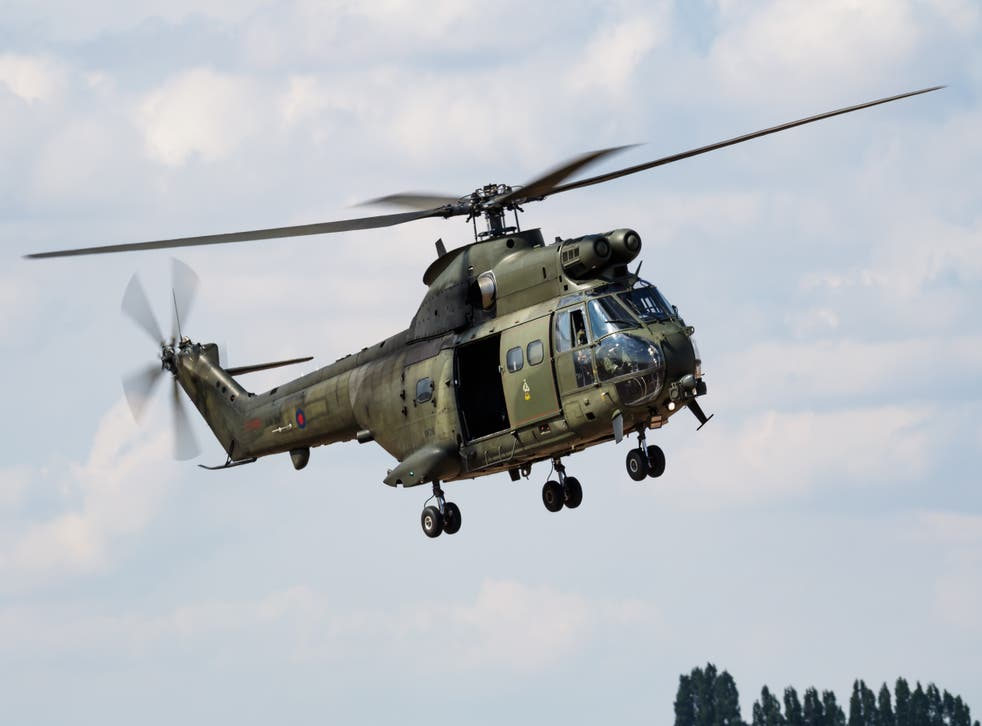 <p>Puma helicopters can be spotted in the skies above some of the RAF's sites of historical significance from 10am </p>