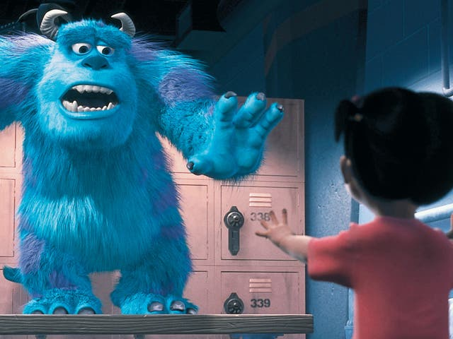 <p>Sulley and Boo in 'Monsters, Inc'</p>