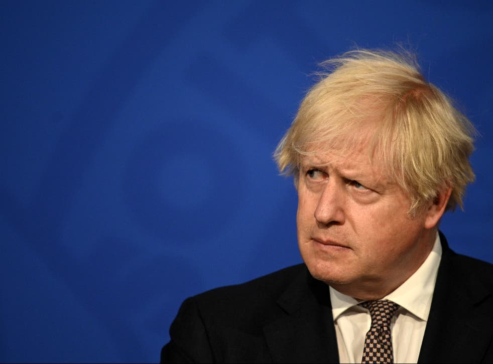 <p>Boris Johnson gives an update on relaxing restrictions </p>