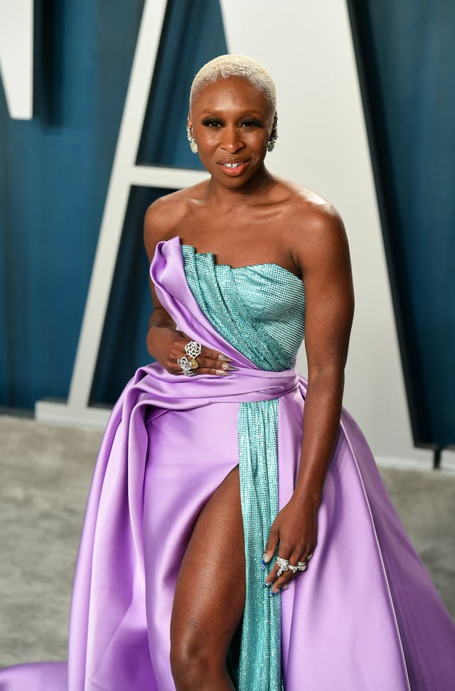 Cynthia Erivo attending the Vanity Fair Oscar Party