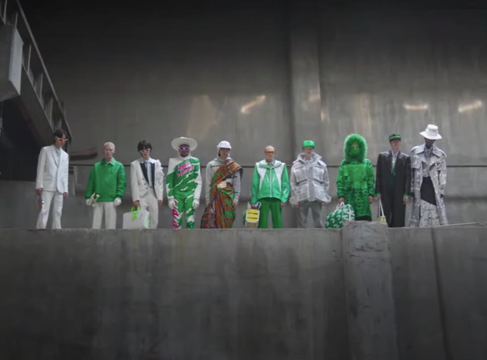 <p>The seven members of Korean boy band BTS are joined by other models in a film showcasing Louis Vuitton's Fall/Winter 2021 collection</p>