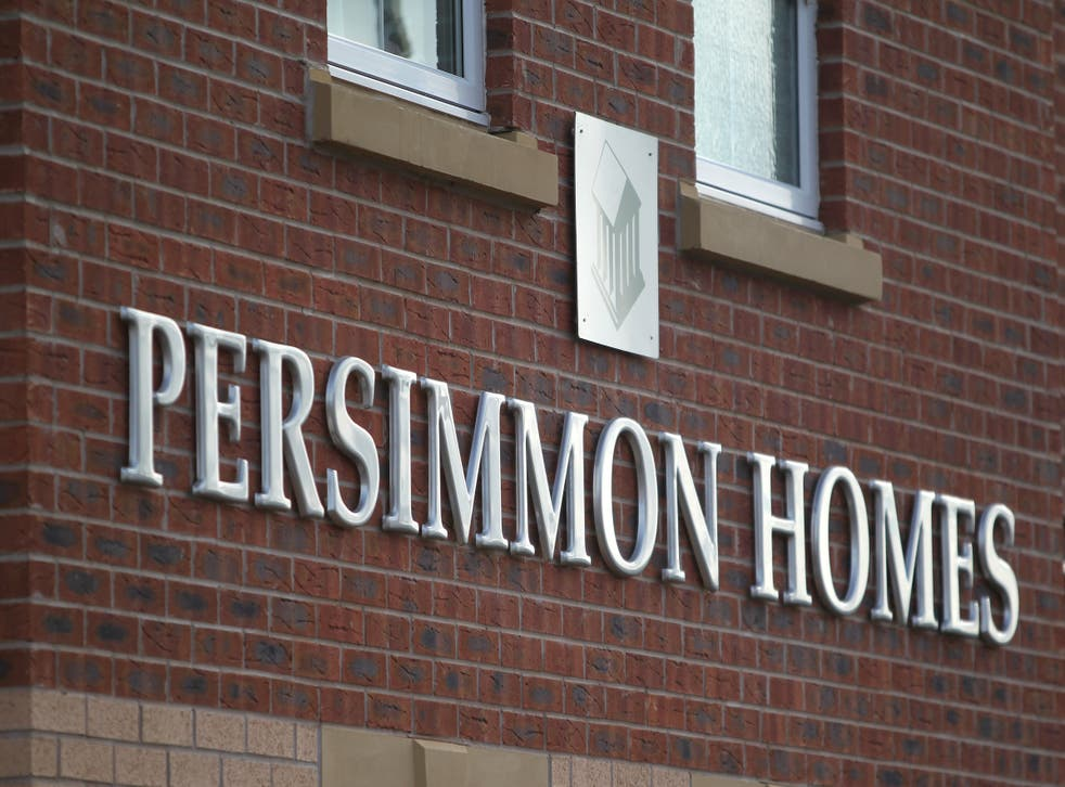 A Persimmon Homes sign