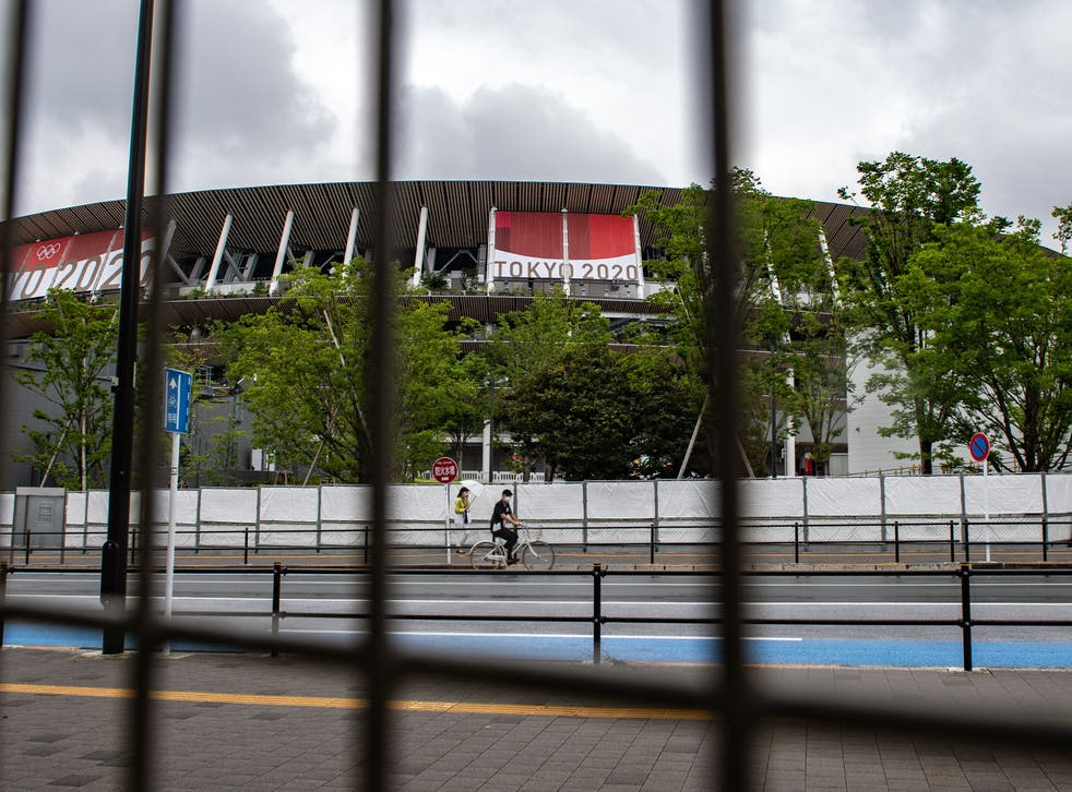 <p>The National Stadium, main venue for the Tokyo 2020 Olympic and Paralympic Games</p>