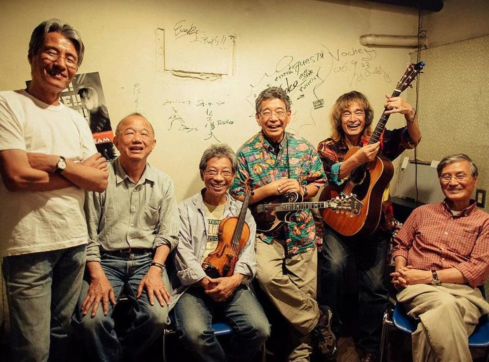 <p>Japanese musical pioneers Bluegrass 45 at Another Dream festival in Osaka, 2015</p>