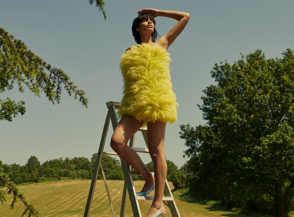 <p>The Attico Feather Dress, available from £91 for a four-day rental at MWHQ at Harrods</p>