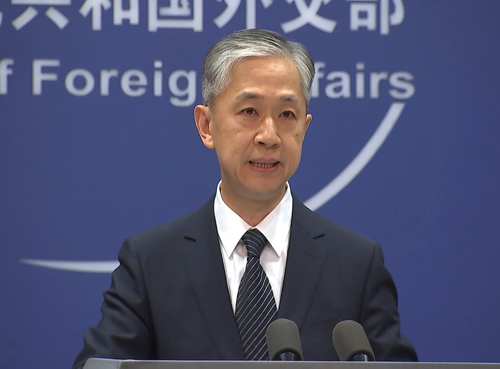 <p>China's Foreign Ministry spokesperson Wang Wenbin </p>
