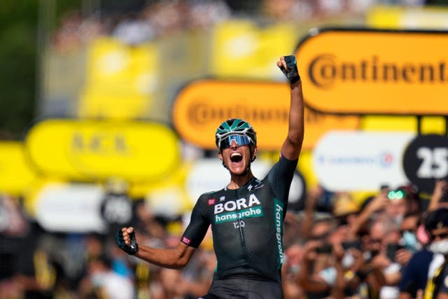 <p>Nils Politt took victory from a breakaway on stage 12 of the Tour de France</p>