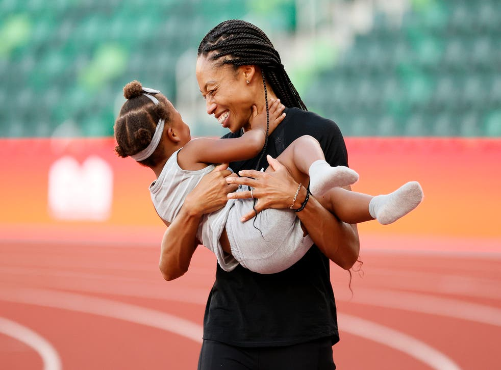 """<p>Allyson Felix has spoken about how """"disrespectful"""" she found Nike over maternity pay despite their marketing campaigns</p>"""