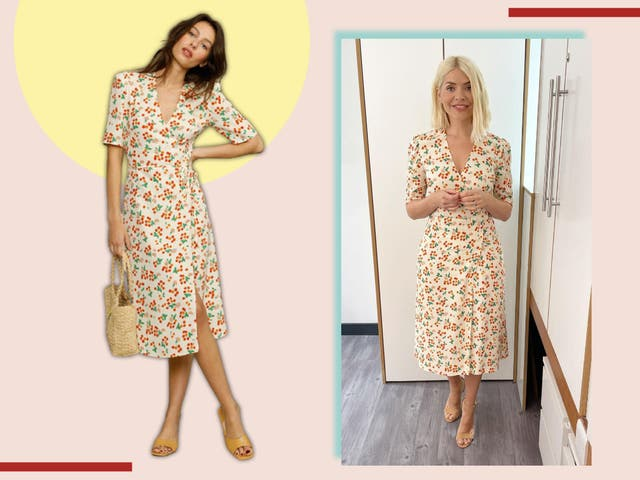 <p>The dress is £180 and available in four more patterns </p>