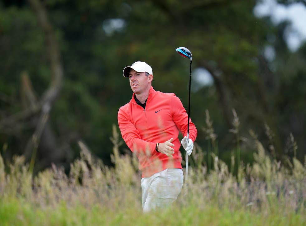 <p>Rory McIlroy on the 10th tee during day two of the abrdn Scottish Open</p>