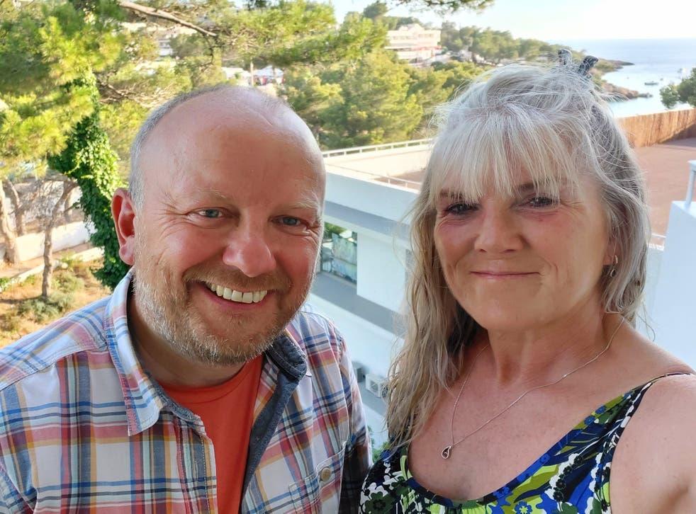 <p>Love island: Robert and Angela Kennedy in Portinatx, Ibiza</p>