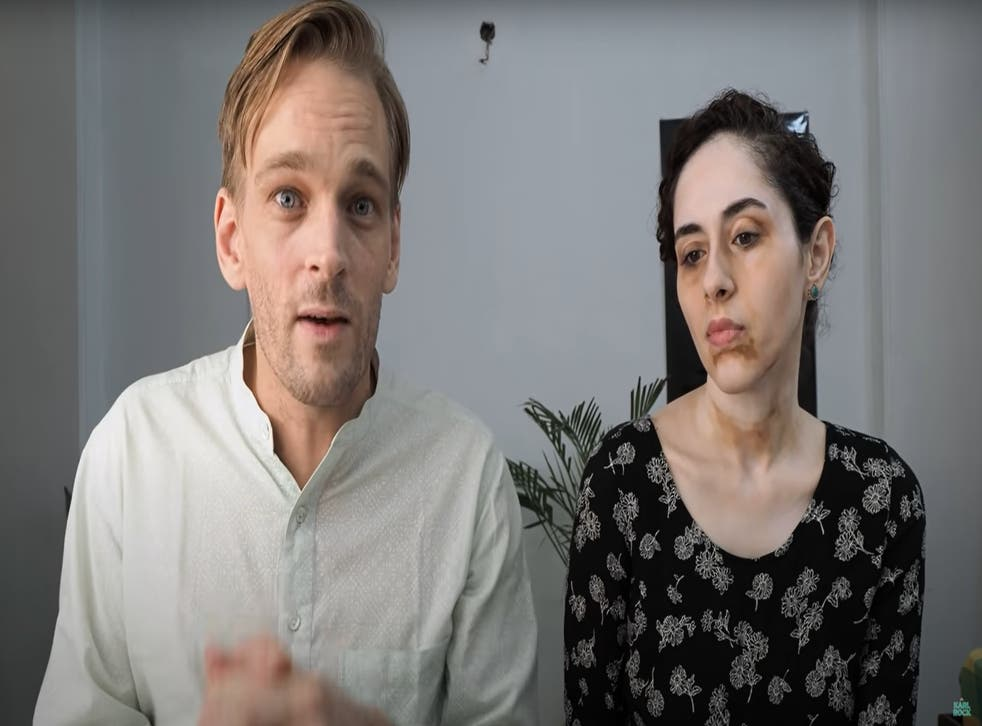<p>A screengrab from Karl Rock's YouTube channel where he discusses work-from-home scams aimed at trapping housewives and job seekers across India to extort money</p>
