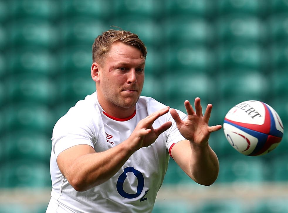 <p>Alex Dombrandt in England training</p>